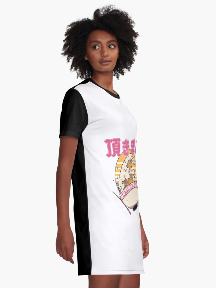 Alternative Ansicht von Die große Ramen-Welle T-Shirt Kleid
