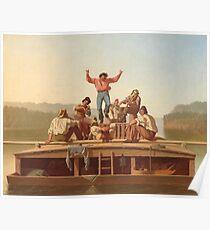 George Caleb Bingham- The Jolly Flatboatmen Poster