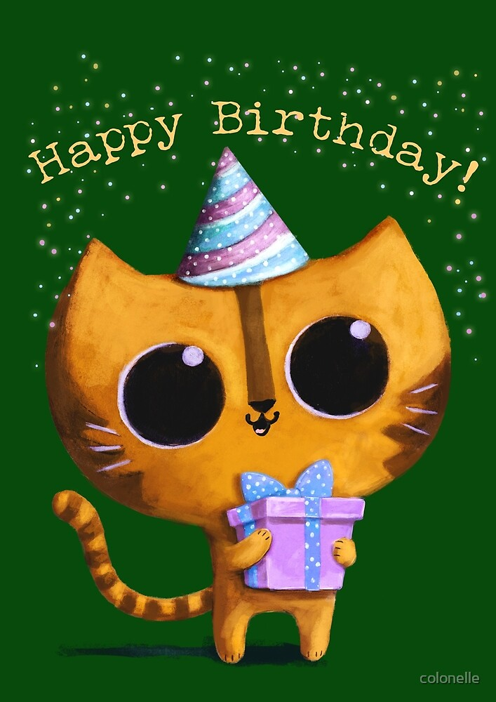 Cute Birthday Cat by colonelle