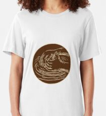 Hand Shaping Pottery Clay Etching Slim Fit T-Shirt