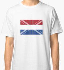 Netherlands UK Flag Immigration Nationality Design Classic T-Shirt