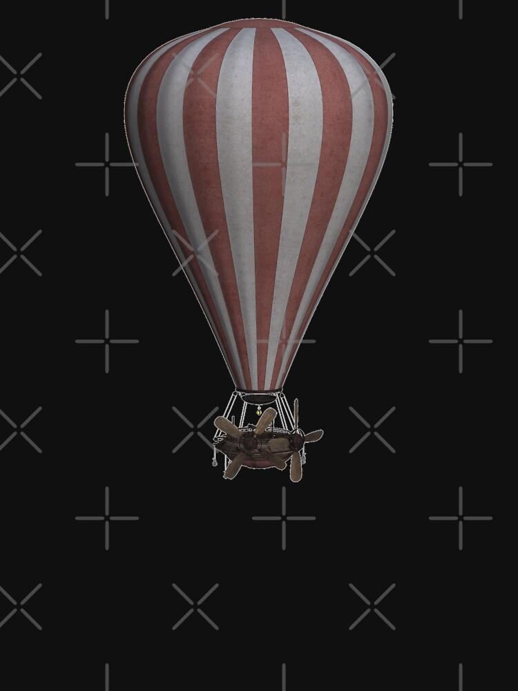 Steampunk Hot Air Balloon Airship Print by thespottydogg