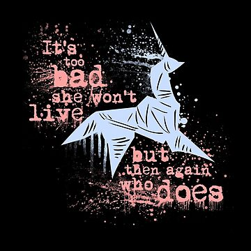 Blade Runner Sci Fi Science Fiction Ridley Scott Harrison Ford Unicorn Origami  by joebadon