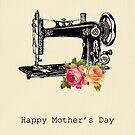 Vintage Nähmaschine - Muttertagskarte von RumourHasIt
