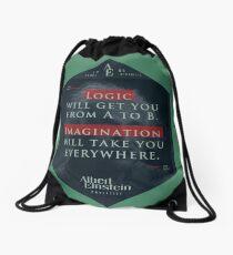 Mochila de cuerdas Cita de: Albert Einstein sobre lógica e imaginación - Camisetas, pósters, pegatinas y regalos