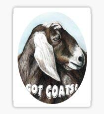 Got Goats! Art T shirt Sticker