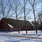 snowy village by Cheryl Dunning