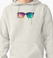 Abstract Polygon Multi Color Cubism Low Poly Triangle Design Pullover Hoodie