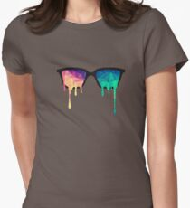 Abstract Polygon Multi Color Cubism Low Poly Triangle Design T-Shirt