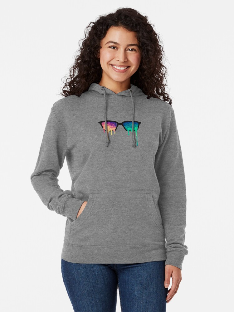 Alternative Ansicht von Abstract Polygon Multi Color Cubism Low Poly Triangle Design Leichter Hoodie