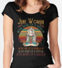 June Woman - Born in June - Queens are Born in June Fitted Scoop T-Shirt