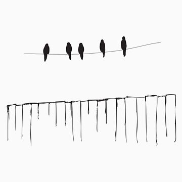 bird on a wire by thesoftdrinkfactory