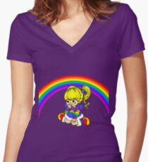Brite Women's Fitted V-Neck T-Shirt