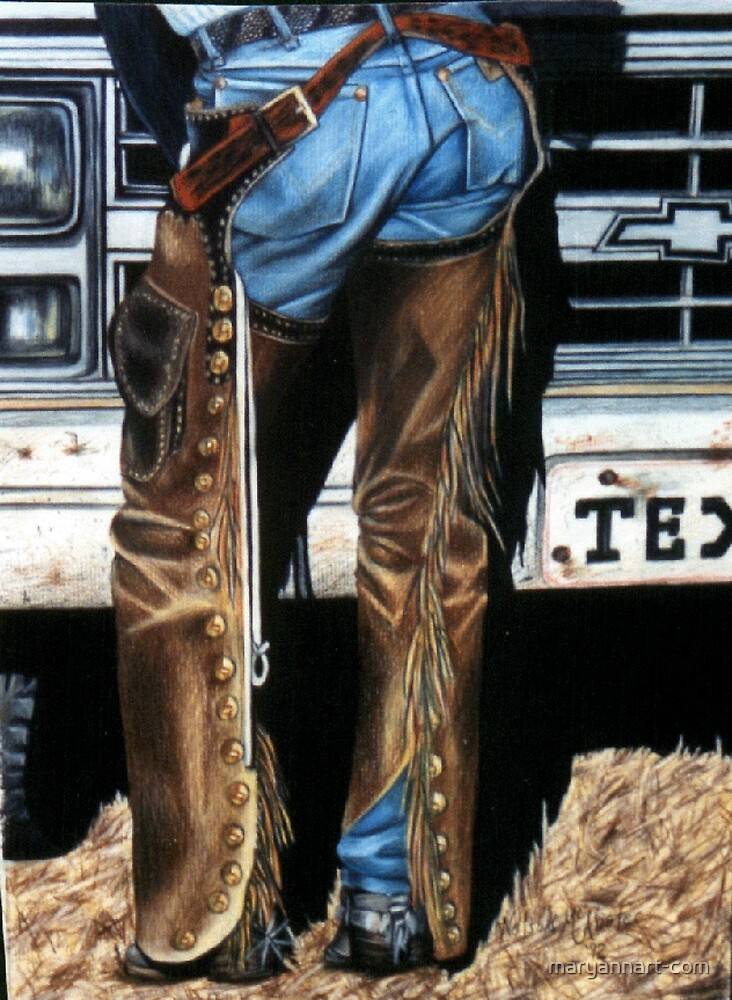 Jeans and Chaps by maryannart-com