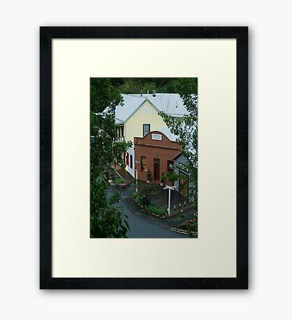 Main Road,Walhalla,Gippsland Framed Print