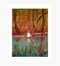 The Waters Edge - Chase Country Park Art Print
