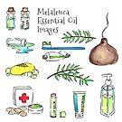 Melaleuca - Tea Tree Essential Oil - Sticker Set by pixelmist