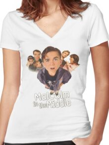 Malcolm in the Middle Women's Fitted V-Neck T-Shirt