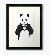 All You Need is Love Banksy Panda Framed Print