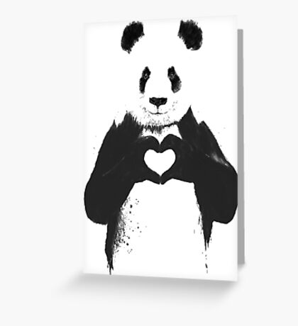All You Need is Love Banksy Panda Greeting Card