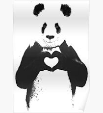 All You Need is Love Banksy Panda Poster