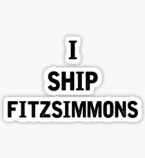I Ship Fitzsimmons Sticker