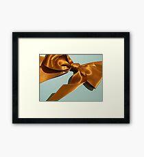 Silky Ribbon Bow Framed Print