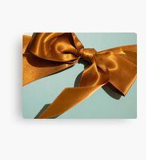 Silky Ribbon Bow Canvas Print