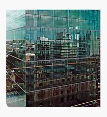 Skyscraper Reflections in Reflections Photographic Print