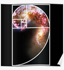 Fibonacci Spiral Galaxy Poster