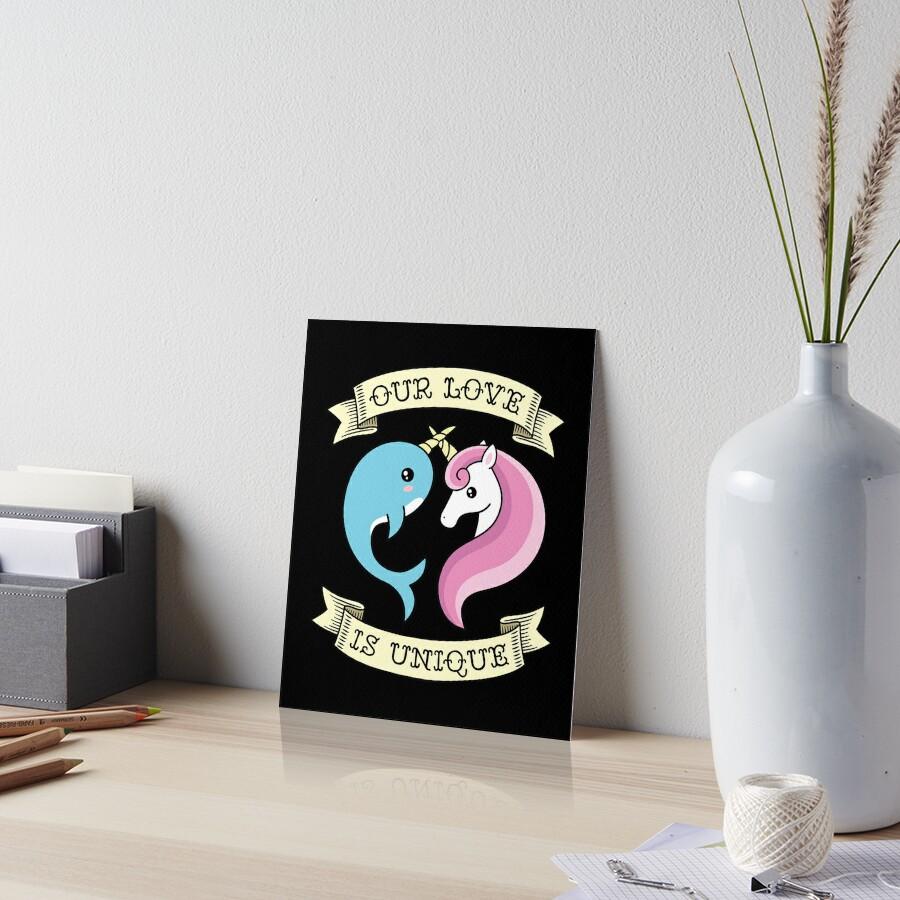 Unique Love Art Board Print
