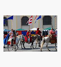 Medieval knights parade Photographic Print