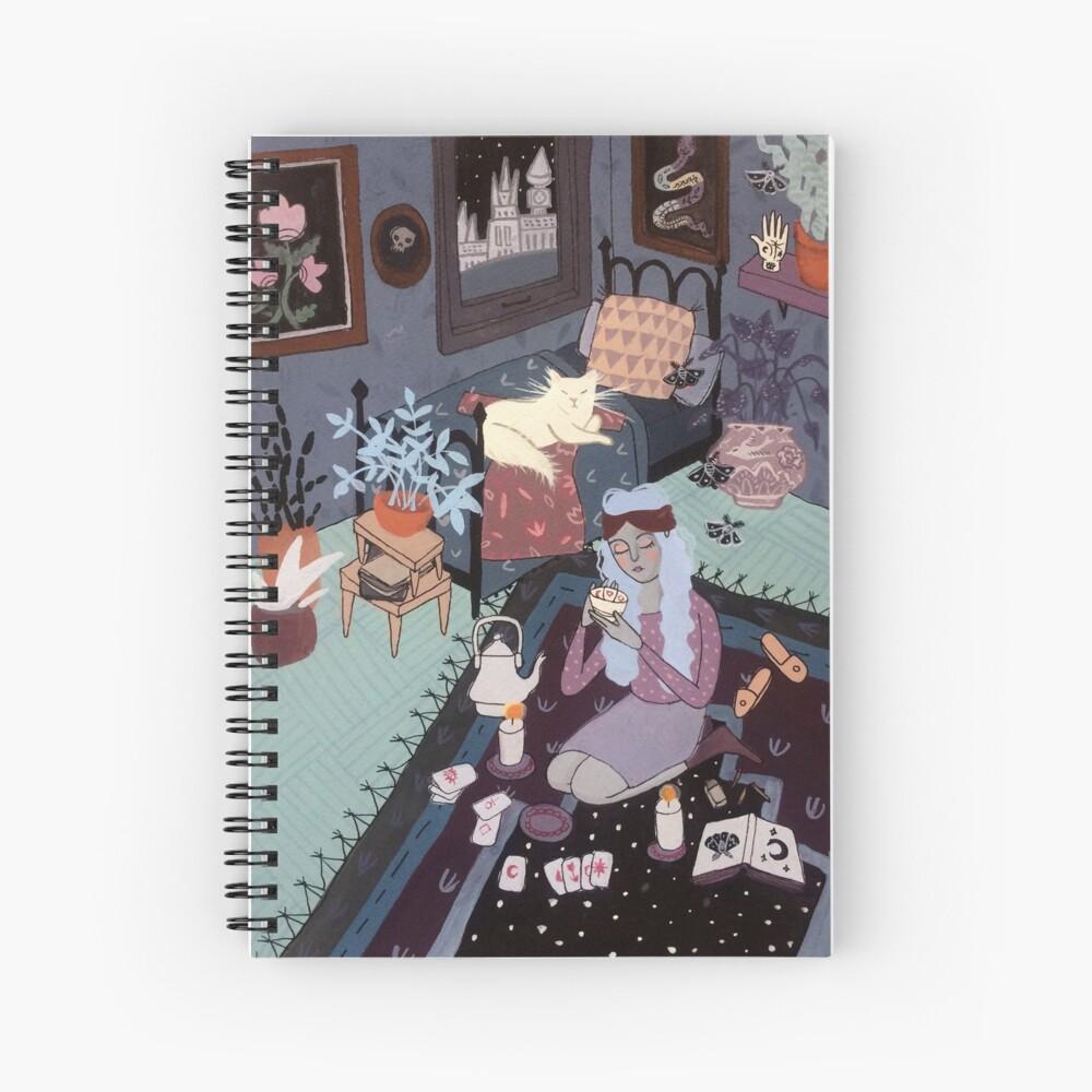 Tasseography Illustration Spiral Notebook