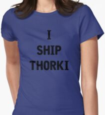 I Ship Thorki Womens Fitted T-Shirt