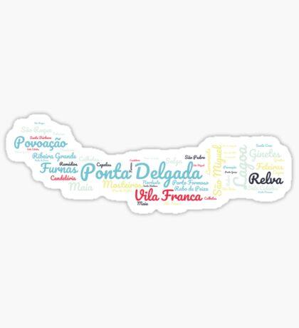 Ponta Delgada Azoren Sticker