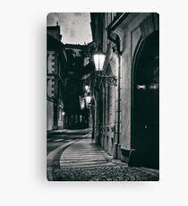 Prague evening empty street Canvas Print
