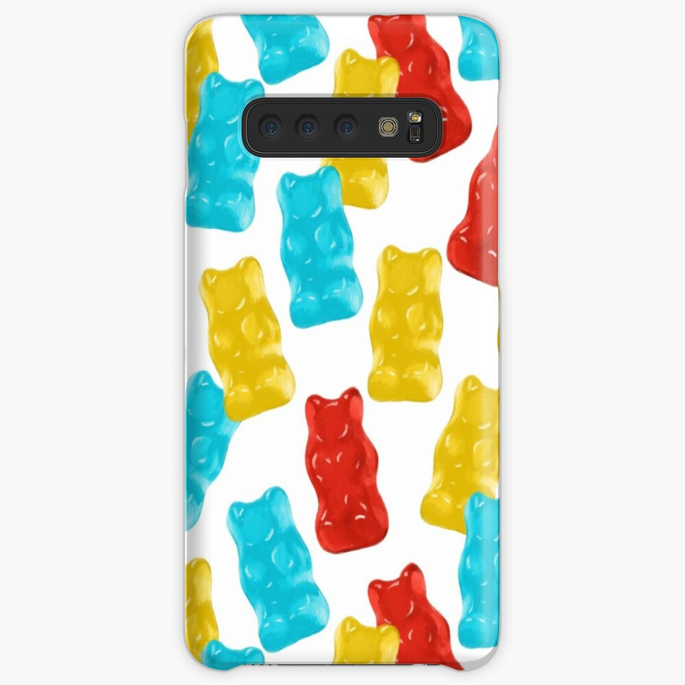 Blue, Red and Yellow Gummy Bear Candy Pattern Samsung Galaxy Snap Case