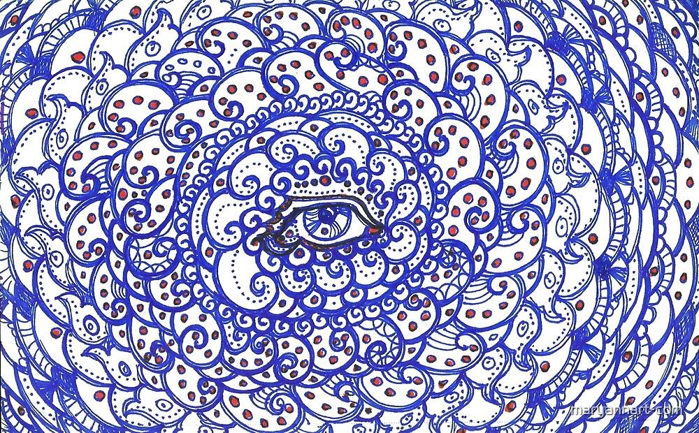 Ornate Blue Eye by maryannart-com