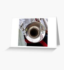 Blowing the Trumpet Greeting Card