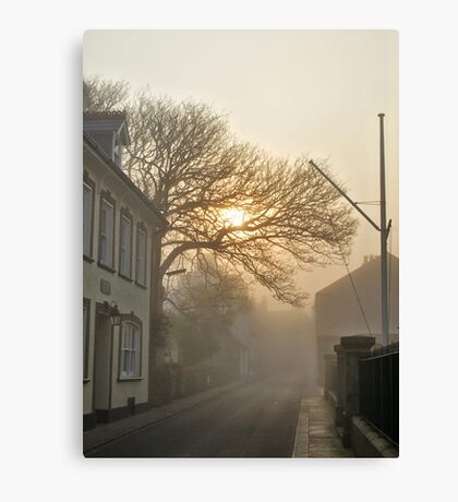 Fog in QE2 Street - Alderney Canvas Print