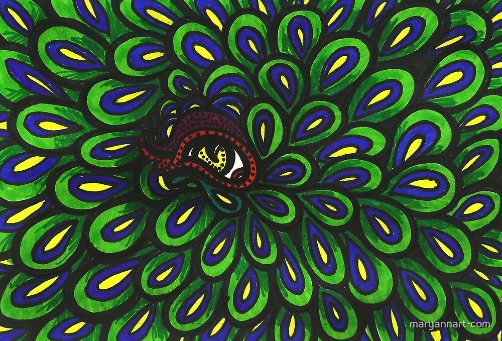 « Oeil de paon » par maryannart-com