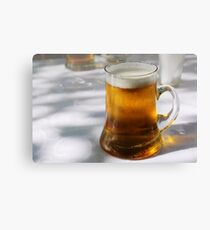 Bliss: a golden beer in the shade in Bukhara Canvas Print
