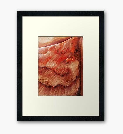 rock tsunami Framed Print