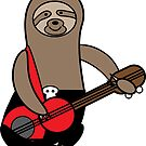 Sloth Playing Bass Guitar by ValeriesGallery