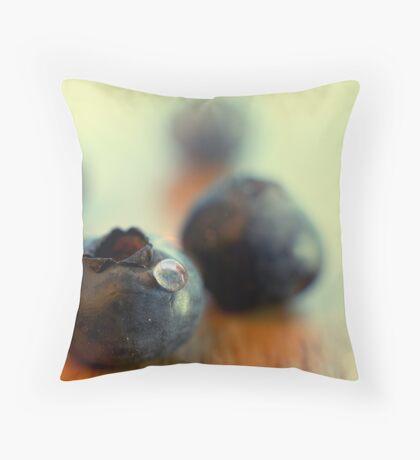 Blueberry portrait Throw Pillow