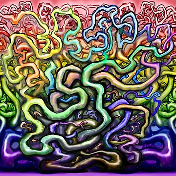 Interwoven Twisted Rainbow Vines by kevinmiddleton