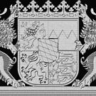 Bavaria (Bayern) coat of arms, with vintage lions  by edsimoneit