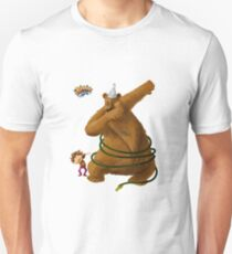 Hannah and the Dancing Bear dabbling in dabbing Slim Fit T-Shirt