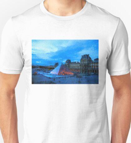Impressions of Paris - Louvre Pyramid Evening T-Shirt