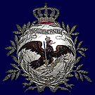 Prussian Fridericus Rex  Battle flag, metallic core by edsimoneit